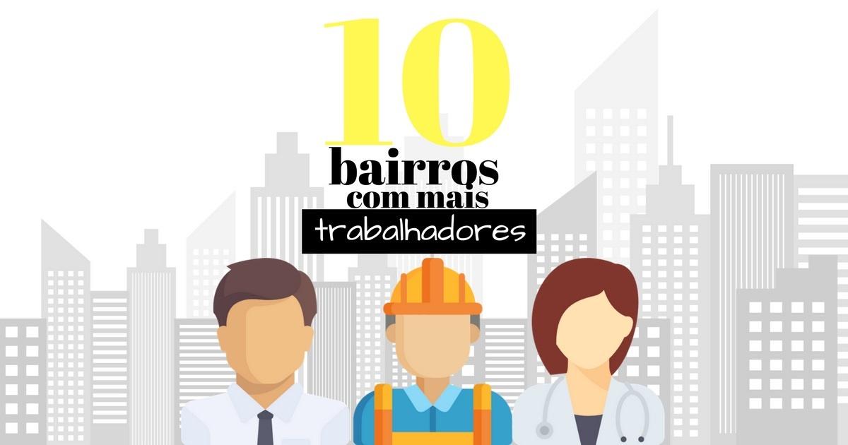 [Infográfico] Os 10 bairros com maior número de trabalhadores